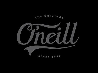 O'Neill Lettering typeface type script logo lettering