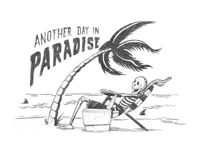 Paradise palm tree surfing surf t-shirt shirt tee