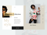 Sunglasses Webdesign UI&UX