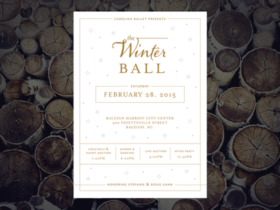 Winter Ball invitation
