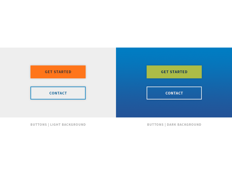 Simple buttons shadow component element interface atomic design ui buttons