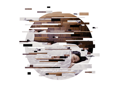Sleep unsplash circle disjointed photo sleep graphic