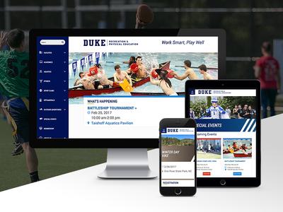 Duke Recreation higher ed web design drupal ui recreation education university website responsive duke