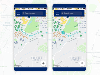 Bus Route Icon Exploration icon process mobile app mobile ui iteration higher ed transportation bus route iconography pattern component application interface ui