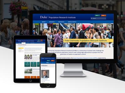Duke Population Research Institute site accessible drupal responsive design university higher ed web design website