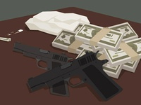 guns, drugs, money