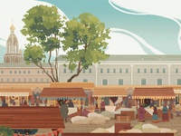 Bread Fair in St. Petersburg XIX c