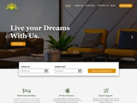 Hotel Website Landing Page