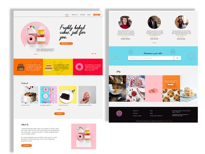 Landing Page For Cake And Confectionery Dribble