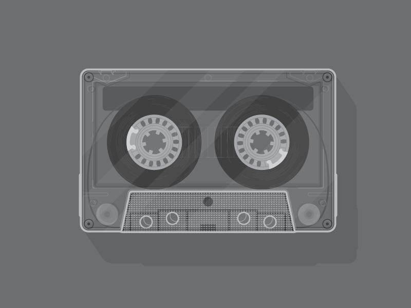 Clearly... illustration design cassette tape