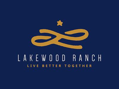 Lakewood Ranch home ranch initial l star mark branding type identity id logo
