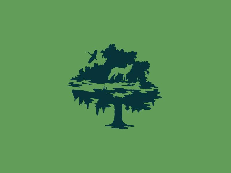 Hidden figures 2/3 hidden bird design branding identity logo icon negative space fox tree