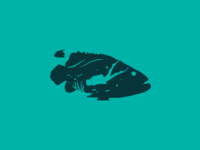 Hidden figures 3/3 icon identity branding logo water reef coral scuba diver fish