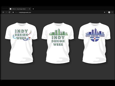 Indy Design Week Tees branding tshirt art illustration vector figma design tshirt design