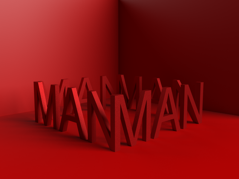 Man typographic concept texture crown nomansland neverending loop lockdown man passion red typography design type ui branding typography art minimal illustration