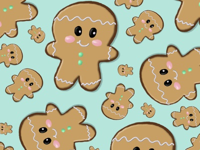 Adorable Gingerbread vector gingerbread man gingerbread christmas photoshop illustration digital