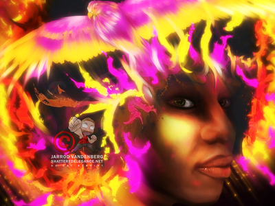 She Rises From Ashes painting illustration