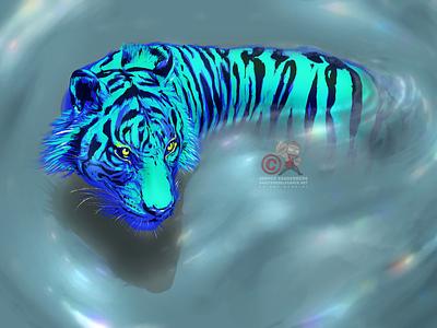 Iridescent illustration