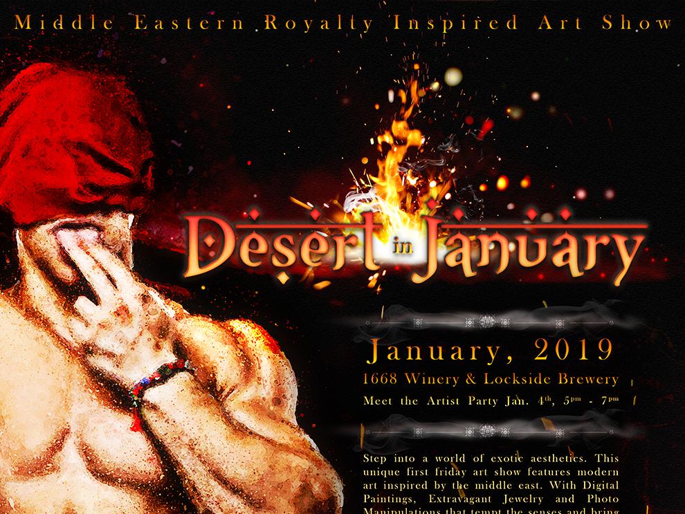 Desert In January Art Show Poster By Jarrod Vandenberg On