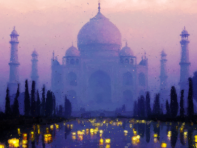 Temple Of The Oasis, Digital Painting