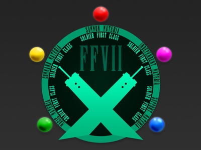 FFVII Materia Badge