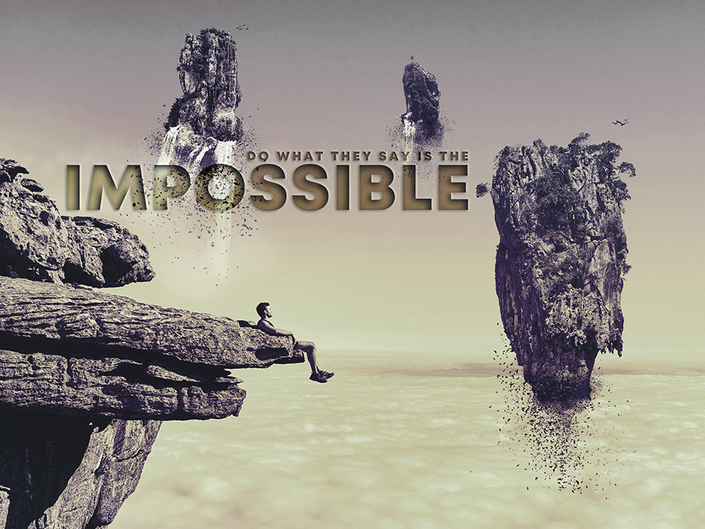 Do The Impossible typography surreal abstract photoshop design digital poster