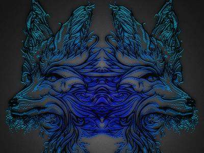 Firefox Coster abstract illustration tattoo art sticker mule sticker mule coster photoshop design digital