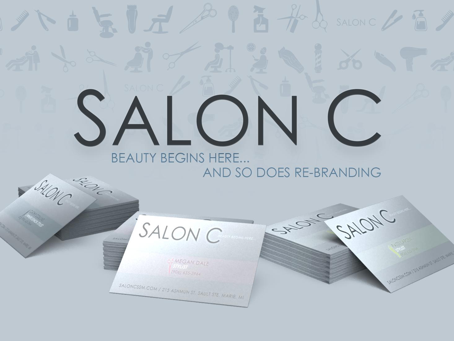 Salon C, Re-Branding cosmetology hair local salon c salon dimension logo vector digital photoshop illustration brand design brand identity brand re-brand re-branding rebranding branding
