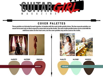 Guitar Girl Magazine Cover Color Preview