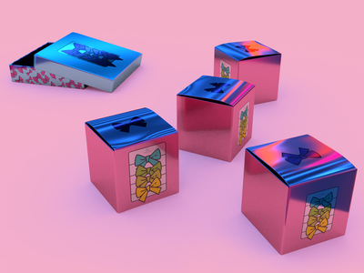 Baby Bow Illustrations, Holographic Packaging