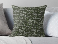 Herbs with Hand-Lettered Calligraphy