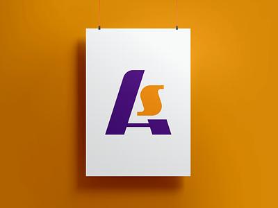 AS Monogram Logo design illustrator logo design illustration vector monogram branding logo graphic design