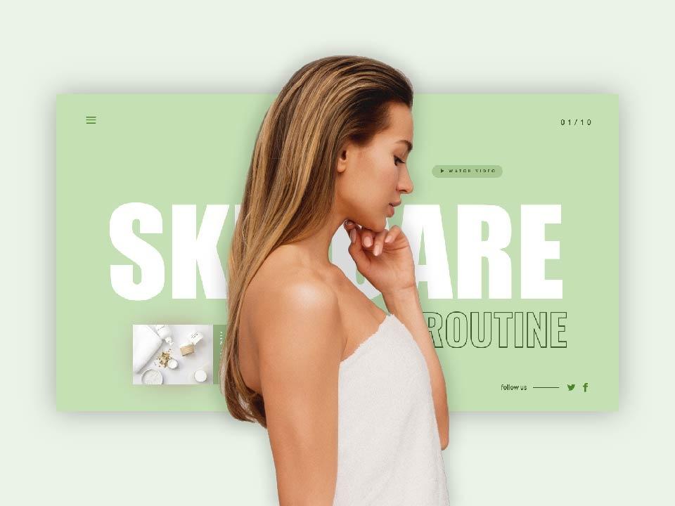 Skincare Presentation design green powerpoint web skincare