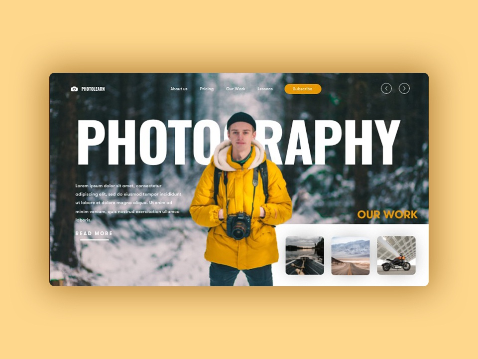 Powerpoint Presentation - Photography web presentation photoshop speedart photography powerpoint design