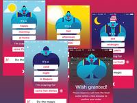Genie UI and Illustration