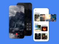 Camera and Photos App ReDesign iOS