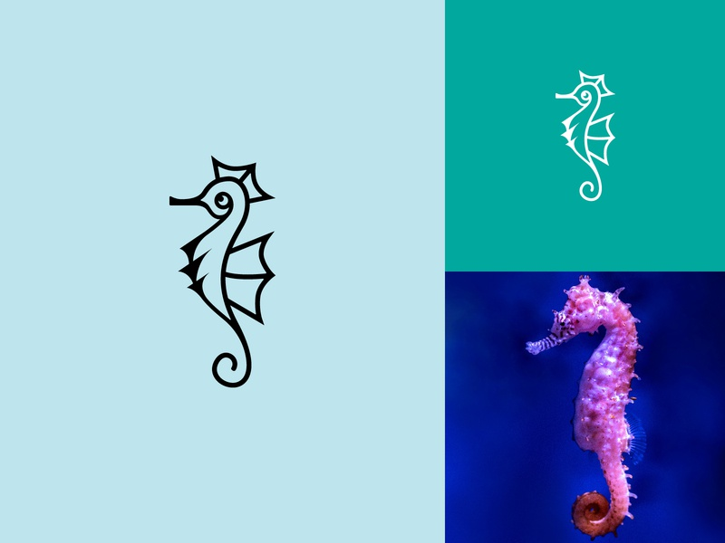 SEAHORSE. Animal Logo 4/4 logodesign flat illustration designer design