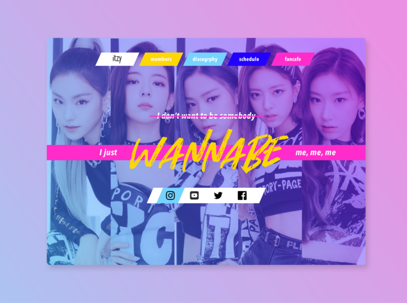 Landing Page (Daily UI 3) desktop itzy daily ui dailyui landing page k-pop