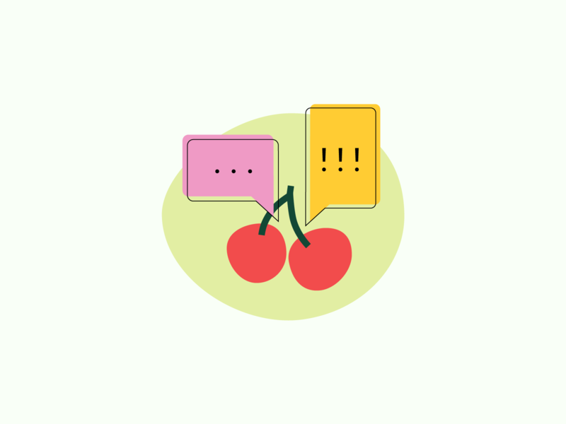 communication - kiwi design studio communication cherry cherries illustration teamwork