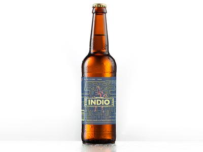 Indio 120's packaging label illustration drink beverage