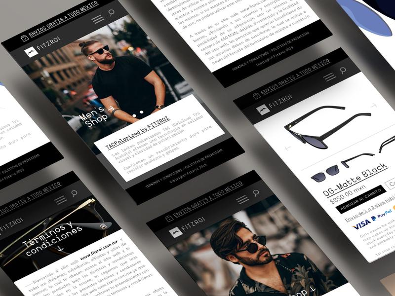 Ui Design - Fitzroi Sunglasses web design branding ui  ux design ui