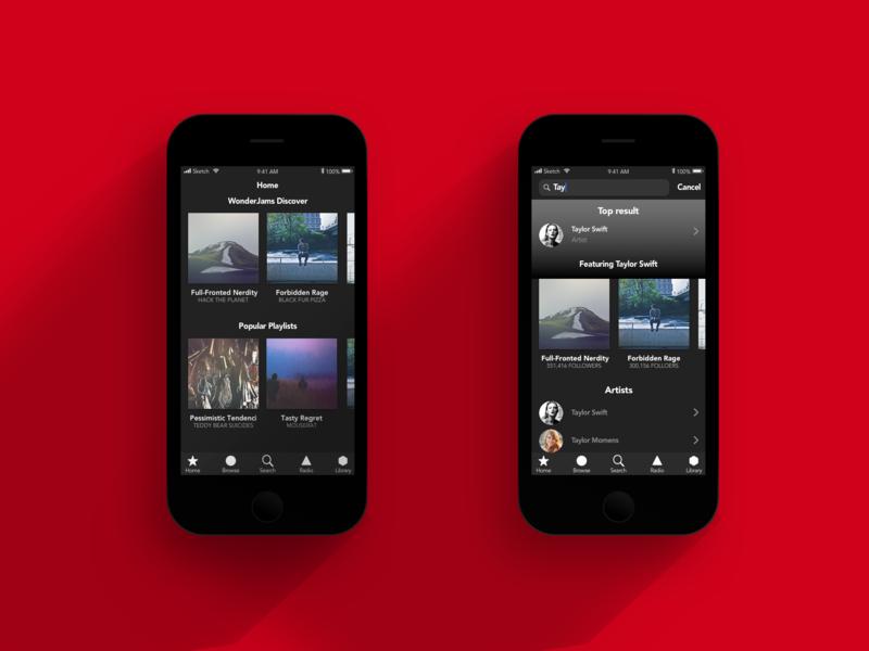 iOS Music App app ui ux design