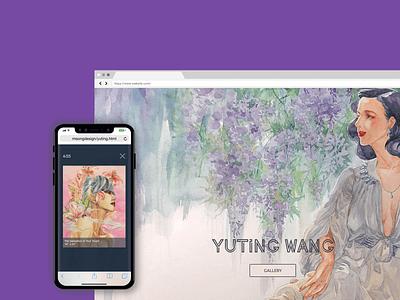 Artist's Personal Website responsive design ux design