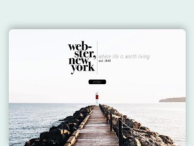 webster, ny clean graphic design art website flat minimal web typography branding design