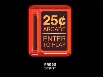 25 Cent Arcade logo illustration minimal graphic design design art
