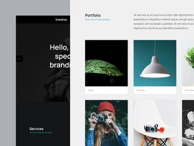 Kreative - Free HTML Website Template for Agencies webdesign css blog portfolio agency landing page template freebie html website free