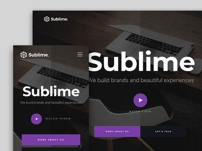 Sublime - Free HTML Website Template for Agencies portfolio free html website template onepage agency ui ux freebie landing page