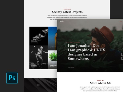Hola - Free vCard PSD Site Template