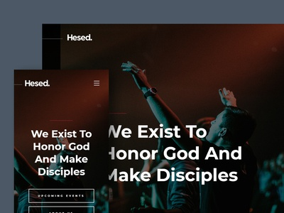 Hesed — a Clean and Modern Free Church Website Template ux ui christian christianity church freebie html template website free