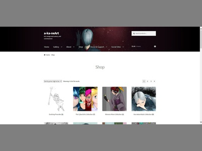 akaneArt Woocommerce Page April 2018 gallery portfolio ecommerce admin experience user ux layout design web woocommerce wordpress